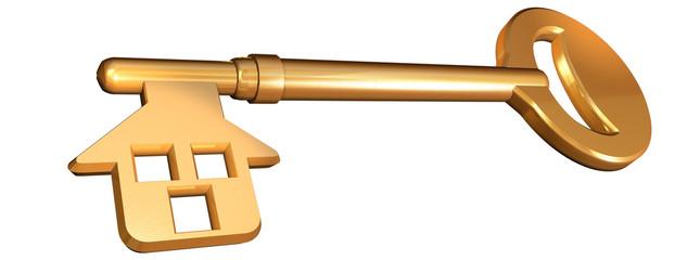 chiave-casa dorata