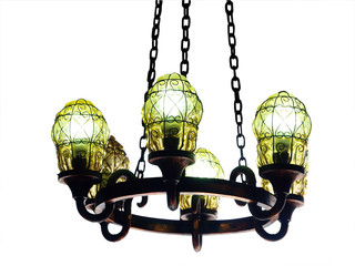 Chandelier isolated with clipping path
