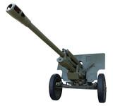 Old Soviet heavy gun of Second World War. Clipping path. poster