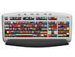Keyboard with Flags