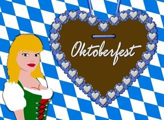 oktoberfest hintergrund - dirndl