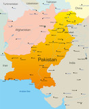 Vector map of Pakistan country