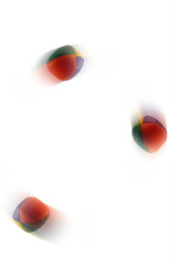 Juggling balls in motion