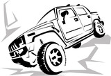 Illustration of a military off-road car