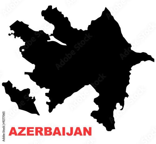 Azerbaijan Map High resolution