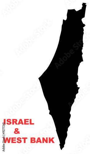 Isreal and West bank Map