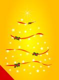Postal con árbol navideño poster