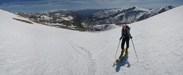 Ski de rando dans le Mercantour