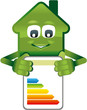 Grünes Haus zeigt Energiepass