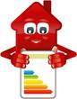 Haus zeigt Energieausweis