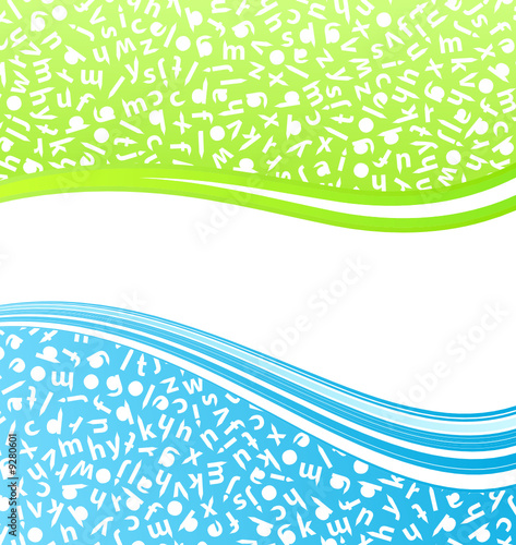 Education lined art background