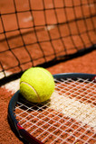 Tennis ball on the court - 9281070