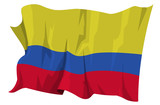 Computer generated illustration of the flag of Colombia poster