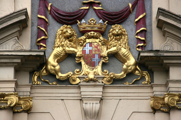 Coat of arms of Utrecht province of Netherlands.