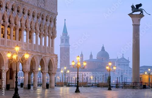 Fotobehang Venetie Makusplatz Venedig Morgenstimmung