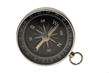 compass on a side on a white background