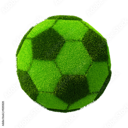 Football/Soccer grassy ball isolated on white