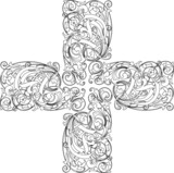Calligraphy cross poster