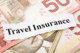 Headline of travel Insurance for background poster