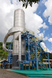 Vertical cylindrical equipment at a geothermal facility