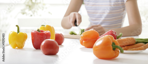 Image of  different vegetables placed on the table