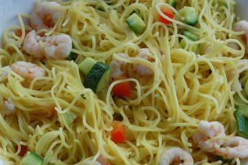 Tagliolini ai gamberetti e zucchine - Primi Emilia Romagna