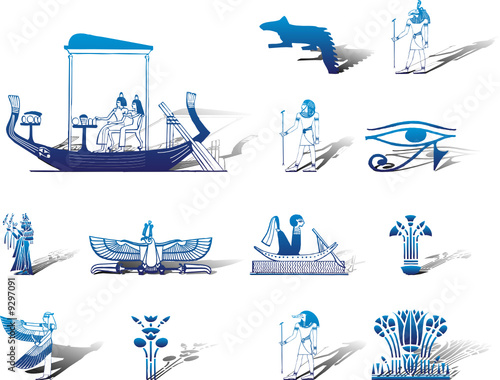 Set icons. Egypt