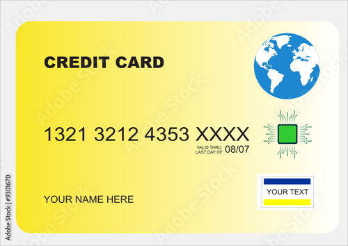 illustration of a secure credit card