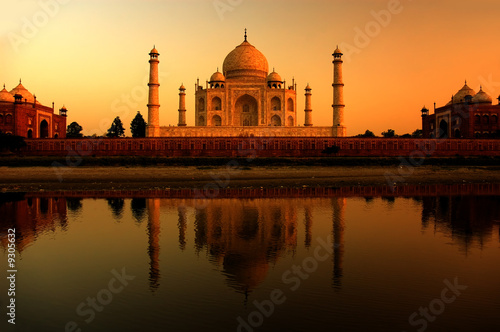 Foto Spatwand India taj mahal in india during a beautiful sunset