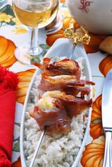 Spiedini di rana pescatrice e prosciutto - Cucina Istriana
