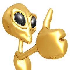 Alien Thumbs Up