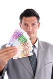 Banker mit Geld poster