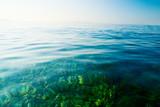 morning clean water of ocean poster