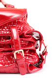 Red bag with metal fastener poster