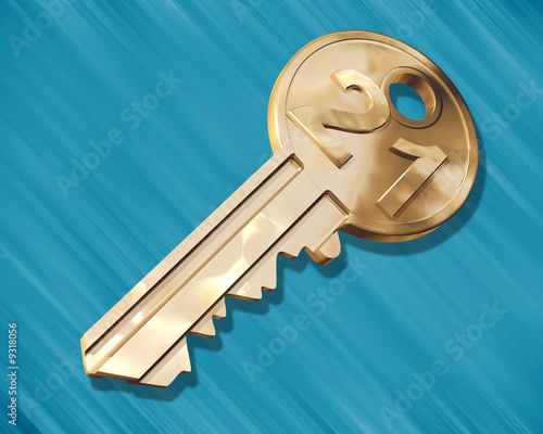 Illustration of a golden key for a 21 year old