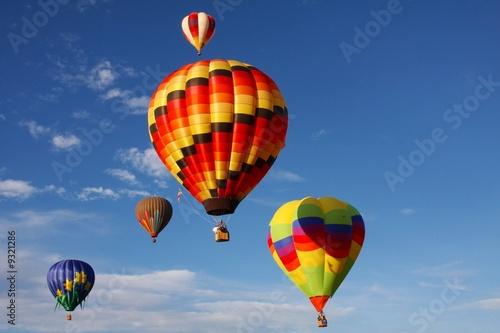 Deurstickers Ballon Five hot air balloons