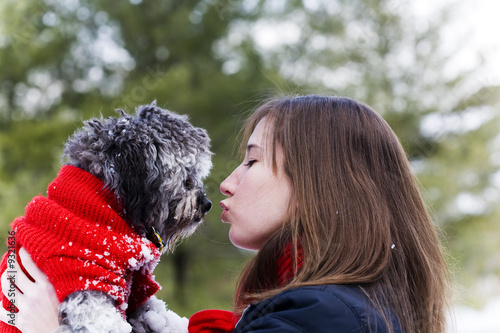 a girl's best friend has a kiss