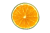 orange slice isolated over white background