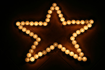 candle in the form star