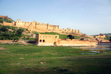 Overview of the Amber Fort in Jaipur, India