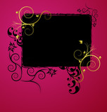 Fototapety A beauitful floral banner design
