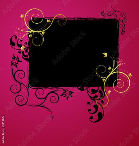 A beauitful floral banner design