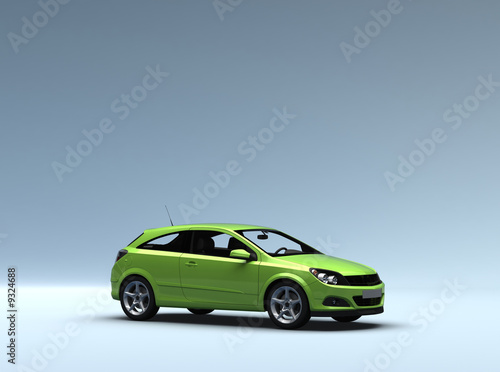 Conceptual car saloon presentation  with clipping path