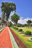 Magnificent park near to center Bahai of religion poster