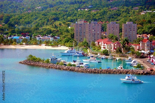 Leinwandbild Motiv Port of Ocho Rios in Jamaica
