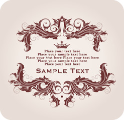 elegant floral frame for your text consist of floral ornament
