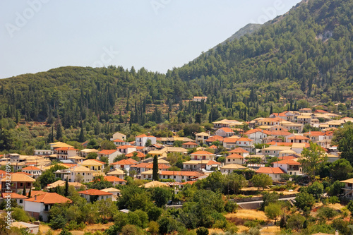 The inland village of Karia in Lefkada island, Greece