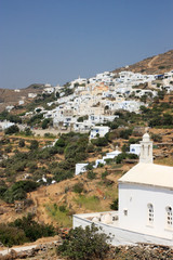The village of Isternia in Tinos island, Greece