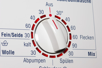 Washing machine - start button and temerature dial