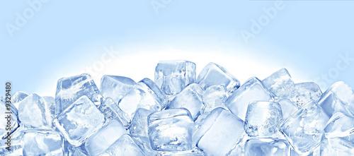 Leinwandbild Motiv Ice cubes